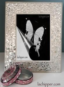 Come fare un portafoto e una scatola con mosaico di specchi - Cosa significa quando si rompe uno specchio ...