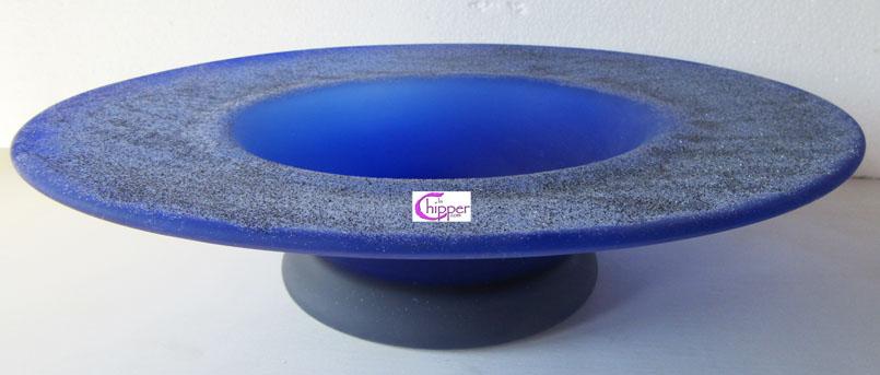 Centrotavola in vetro di Murano blu cobalto