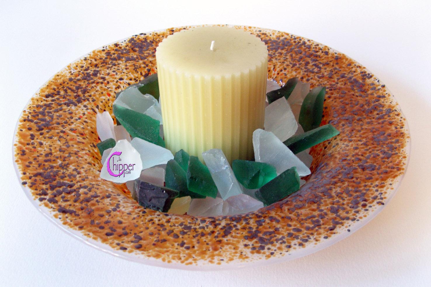 Centrotavola Murano con candela
