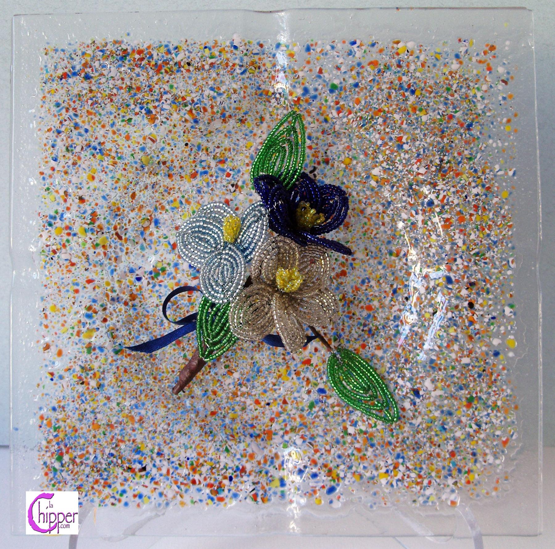 Posacenere vetro di Murano multicolor