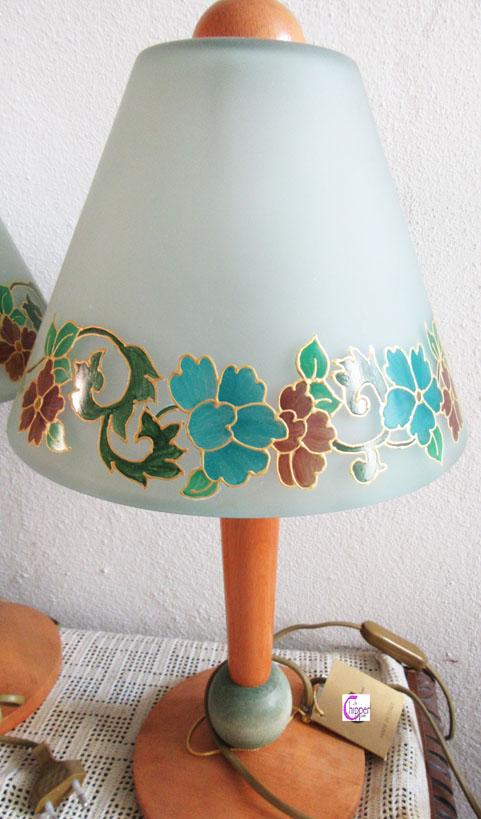 Lampade da tavolo vetro satinato verde