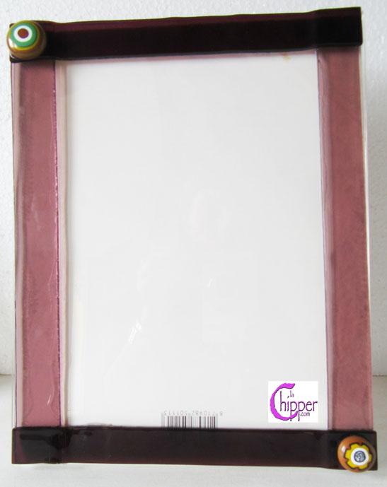 Cornice portafoto vetro Murano rosa