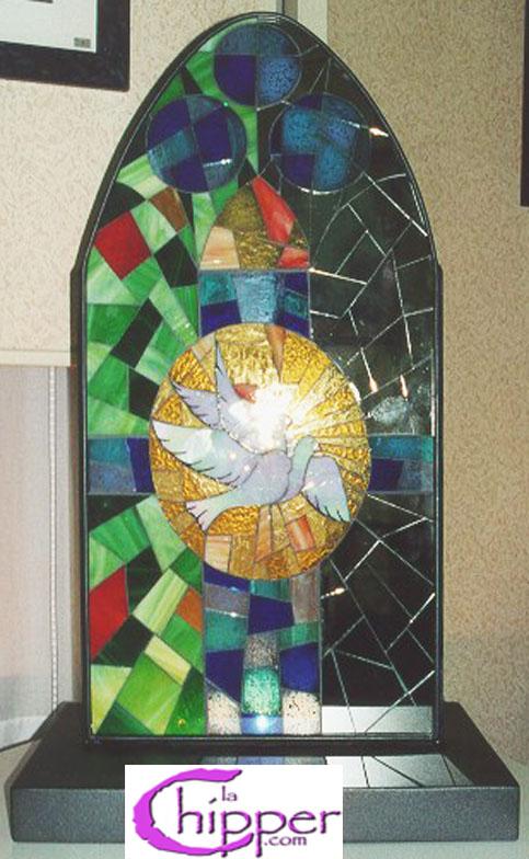 Lampada mosaico con specchio