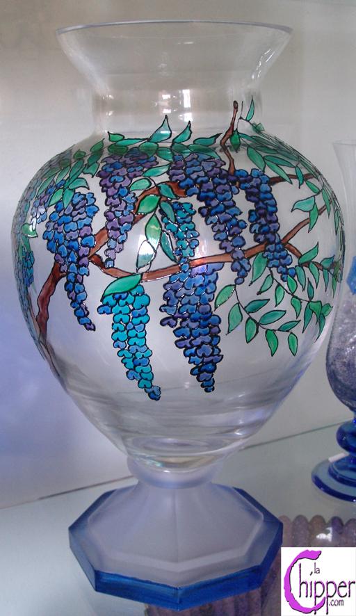 Vaso cristallo trasparente glicini