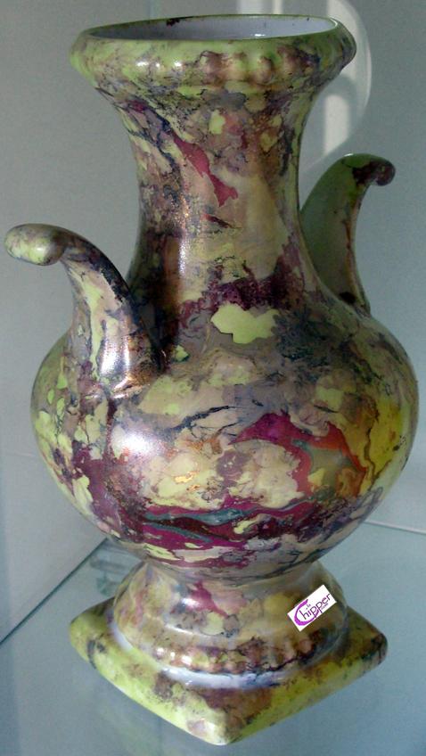Anfora di ceramica marmorizzata multicolor
