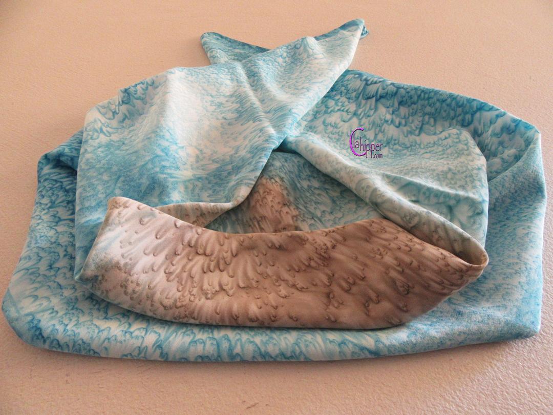 FOULARD DI SETA bicolore blu/tortora