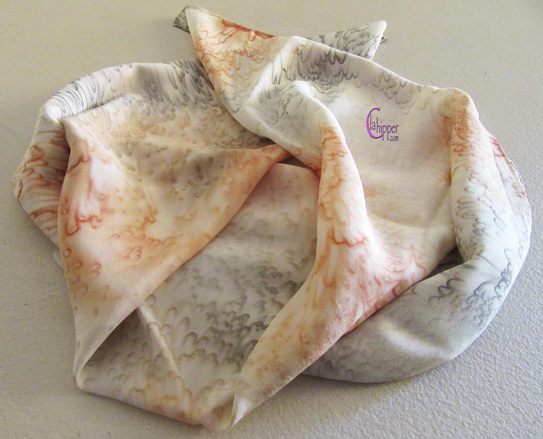 FOULARD DI SETA bicolore ocra/grigio